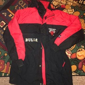 Classic 90's Chicago Bulls Coat! FLAWS SZ LARGE